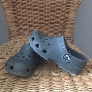 Grey kids crocs